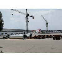 Best Single Pole Steel Transmission Tower For Power Transmission Silver Color wholesale