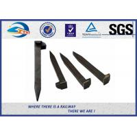 Best Railroad Track Spikes / Dog Spike For Timber Sleeper GOST5812 Standard 16x16x165mm wholesale