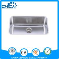 China AMERICAN STANDARD USED LOWES SINGLE BOWL UNDERMOUNT HANDMADE STAINLESS STEEL KITCHEN on sale