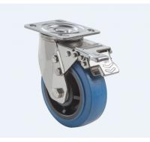 Best SUS304 Stainless Steel PU Caster Wheel Heavy Duty Dual Ball Heat Treated Raceways wholesale