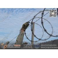 China CBT-65 O.D500mm Galvanised Single Coil Razor Wire Barriers | Anping Razor Wire Factory on sale