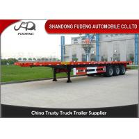 China 3 axles 20ft 40ft platform flatbed semi trailer shipping container trailers for sale on sale