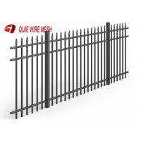 China Black Wire Mesh Fence Panels Aluminium Spear Top Fencing For Residential Use on sale