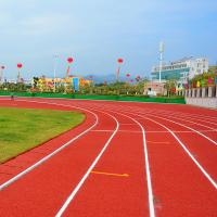China Running Rubber Athletic Track Flooring Surface CorrosionResistance on sale