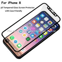 Best 3D Full Cover Tempered Glass Screen Protector 0.33mm 9H Anti Fingerprint Case Friendly for iPhone 8 wholesale