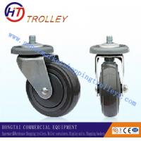 Best 125 mm Warehousing Shopping Trolley Spare Parts  5 inch Ground PU Castor wholesale
