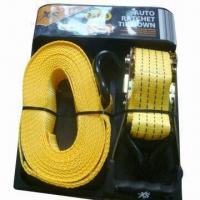 Best Yellow PMS 142C PES strap tie down, 2000kg breaking force wholesale