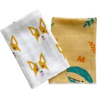 Best Ultra Absorbent Baby Muslin Bibs 100% Cotton Face Towel Two Layers Gauze Cloth wholesale