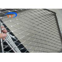 China 316L X Tend Balustrade Cable Mesh , Stainless Steel Cable Mesh Netting For Stairs on sale
