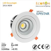 Best warm white 3000K 4000K 8inch 40 watt led downlight cob adjustable with 24deg 60deg wholesale
