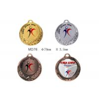 China Zinc Alloy Material Custom Sports Medals Ribbons For Enterprise Activity on sale