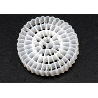 Buy cheap Virgin HDPE Material MBBR Bio Media White Color And 25*4mm Size High Surface from wholesalers