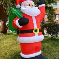 Cheap Factory Customized Shop or Family Christmas Roof Decoration Inflatable Santa for sale