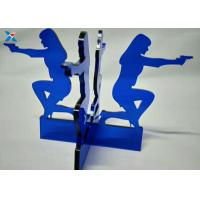 Best Blue Acrylic Shapes Craft / Acrylic Stand For Office Decoration Gifts wholesale