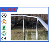 China Balcony Handrail Extruded Aluminum Fence , 35 Mm Dia Anodized Aluminium Balustrade Profiles on sale