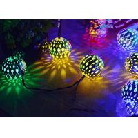 Best Morocco Ball Solar LED String Lights , Colorful Solar Party String Lights wholesale