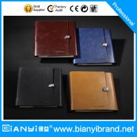Best Promotional Gift 6 Rings Leather Loose Leaf Notebook wholesale