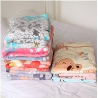 China Thin Coloful 100 Polyester Fleece Blanket Patterns , Breathable Custom Baby Blanket on sale