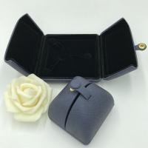 China Silver Button Pu Jewellery Box , Handmade Jewelry Box Display Cases on sale