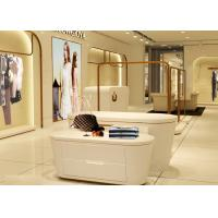 Best Beautiful White Color Retail Clothing Fixtures For Lady Clothing Display wholesale