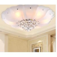Best White flower crystal ceiling lamp modern LED glass ceiling lamp wholesale