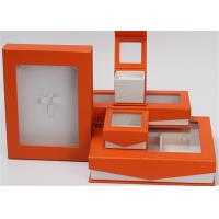 Kraft Paper Jewelry Box Screen Printing Logo With Lids Environmentally Friendly for sale