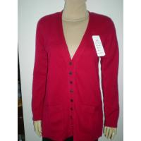 Best red fine cashmere sweater wholesale