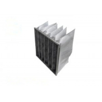 Best F8 Activated Carbon And Synthetic Fiber Media Pocket Air Filter Aluminum Frame wholesale