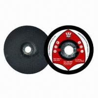 China Metal-depressed Center Light Grinding and Cut-off Wheels with 80m/s Speed, 100 to 230mm Diameter on sale