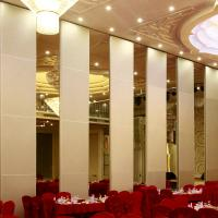 Best Banquet Hall Acoustic Movable Walls / Wooden Soundproof Sliding Room Folding Partitions wholesale