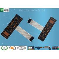Buy cheap 0.175mm Sand Effect PC Overlay Metal Dome Embossing Membrane Switch from wholesalers