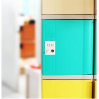 Best Green Plastic Gym Lockers Safety Changing Room Lockers For Public Place wholesale