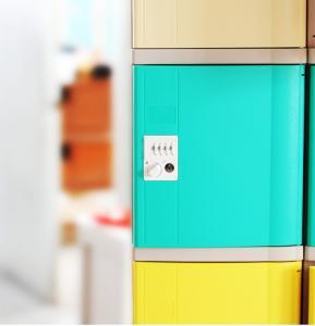 Best Vandal Resistant Green School Lockers , Swimming Pool Small Plastic Lockers wholesale