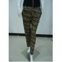 Cheap Leopard Print Women'S Fashion Leggings Ladies Velvet Trousers / Pants With Side Pockets for sale