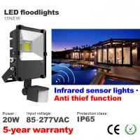 Best 20W PIR Infrared Motion sensor Waterproof IP65 LED Floodlight  Parking lighting wholesale