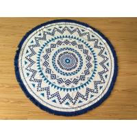 Best blue tassel round beach towel custom print round beach towel wholesale