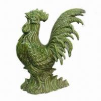 Best Rooster Figurine, Crafted of Ceramic, Glazed Crackle Green Finish, Customized Designs Accepted wholesale