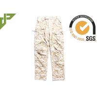 Relaxed Fit Tactical Combat Pants / Desert Camo Trousers With Function Pocket For Duty