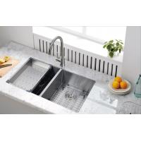 Best good quality handCrafted SUS304 Handmade 60/40 Double sinks with drainer wholesale