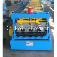 Metal Deck Roll Forming Machine With Galvanized Board , 30 Groups Rollers