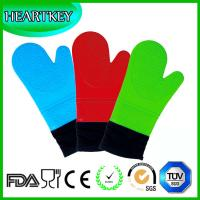 Grilling Baking Extra Long Heat Resistant Oven Gloves with Deluxe Padded Cotton Liner