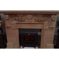 China Buliding decoration marble and granite stone Fireplace statues on sale