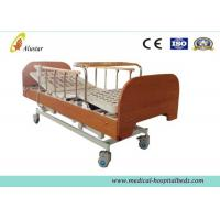 China Three-function Electric Medical Hospital Beds , Home Care Bed with Bumper Dinning Table (ALS-HE003) on sale