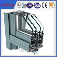 China aluminium windows powder coating, supply construction aluminum extrusion for curtain wall on sale