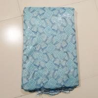 China Wedding Dress Lace Fabric With Stones on sale