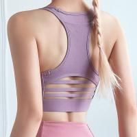 China Hot Selling Yoga Fitness Wear Tank Top Nylon Mesh Gym Sports Bra with Pocket+ Legging set on sale