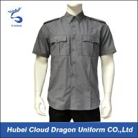 Cheap Short Sleeve Security Guard Shirts , Men's Work Shirts With Functional Pockets for sale