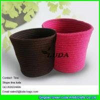 Best LUDA 2016 new design large basket colored decorative sewing cotton rope laundry baskets wholesale