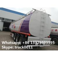 Best CLW brand triples axles 50,000L oil tank trailer for sale, factory sale BPW/FUWA 3 axles 50cubic meters fuel tank traile wholesale