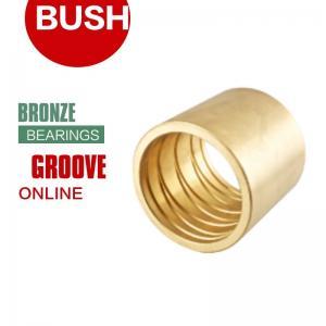 China Oil & Grease Sleeve Bushings A Full Range Of Groove Styles Flange Bronze Bearings on sale